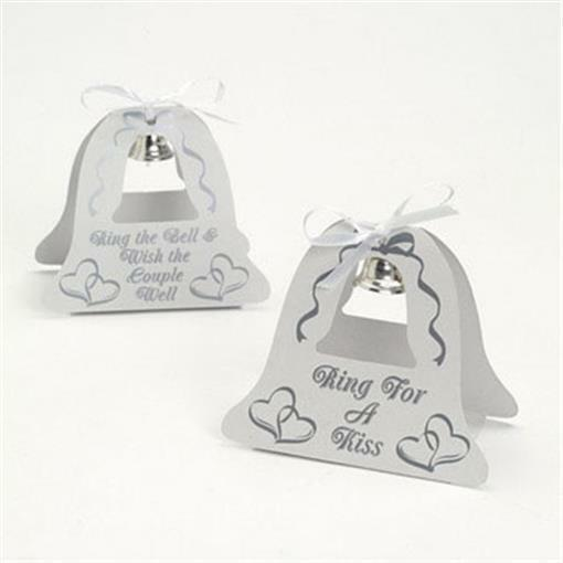 50 Ring For Kiss Wedding Decorations Wedding Bell Table Toppers Silver Favors