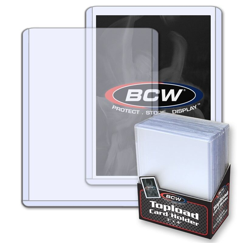 1 Pack Of 25 Bcw 3 X 4 Topload Standard Baseball Card