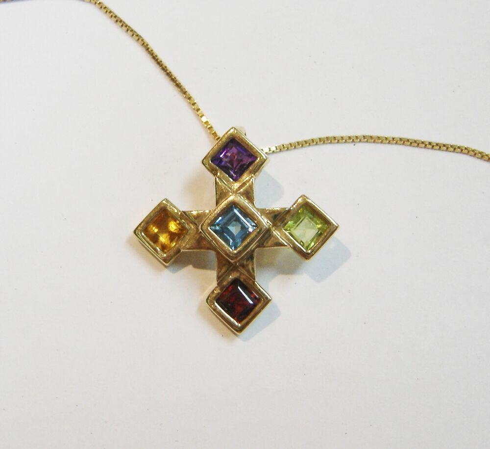 14k Yellow Gold Multi Colored Gemstone Pendant W20'' Box. Mangalsutra Pendant. Engraved Wedding Rings. 70 Carat Diamond. Birthstone Wedding Rings. Evening Gown Earrings. Godmother Bracelet. Tag Necklace. Black Diamond Rings