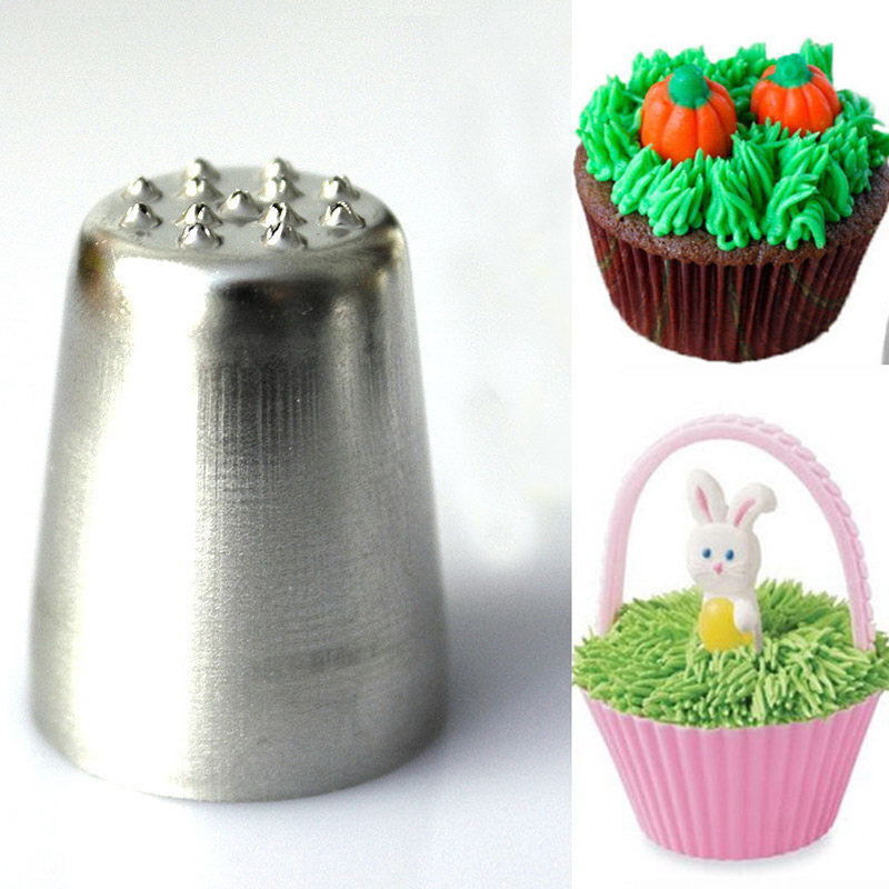 Cake Decorating Tips To Make Grass : Fashion Grass Hair Icing Piping Nozzle Cake Cupcake ...
