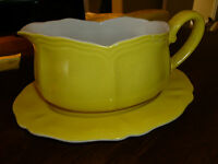 Vintage Ironstone - Federalist - LemonYellow - Gravy Boat/Underplate -Japan