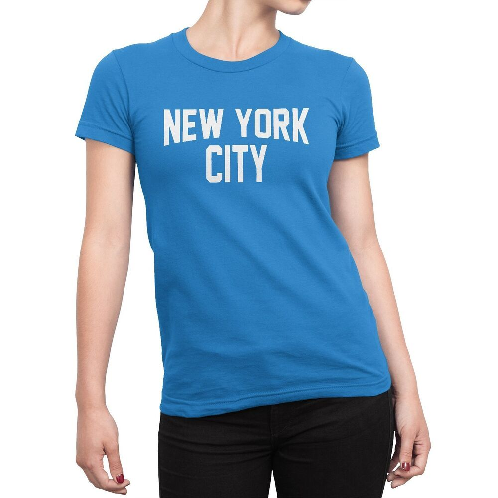 Ladies New York City T Shirt Turquoise Nyc Tee Womens