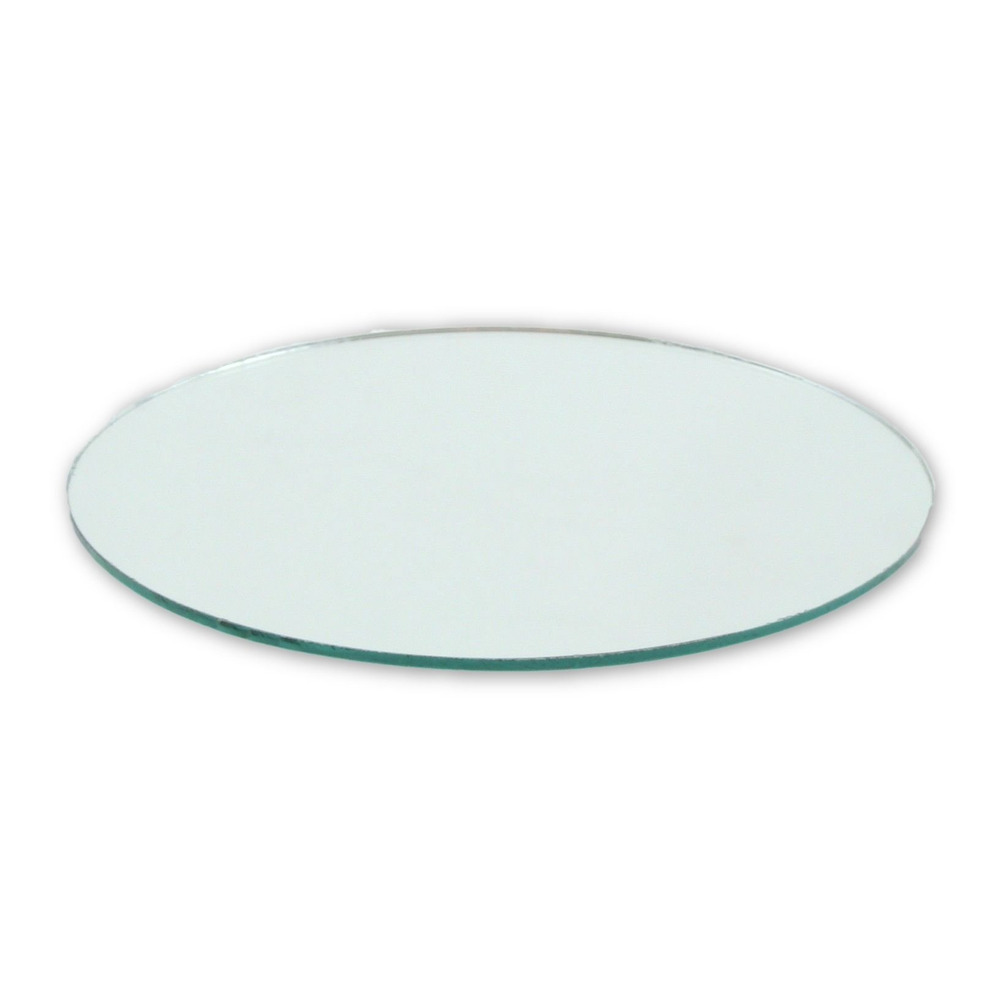 4 Inch Glass Craft Small Round Mirror 2 Pieces Mosaic