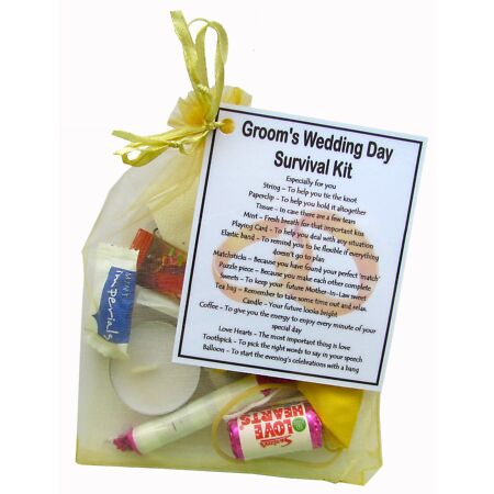 img-Groom's Survival Kit - great novelty keepsake for a groom on his wedding day.