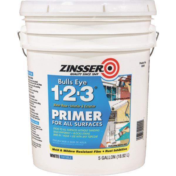 5 Gal Zinsser Bulls Eye 1 2 3 Latex Interior Exterior Stai