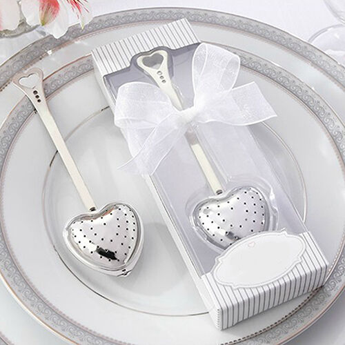 Heart Design Spoon Tea Infuser Filter Souvenir Bridal