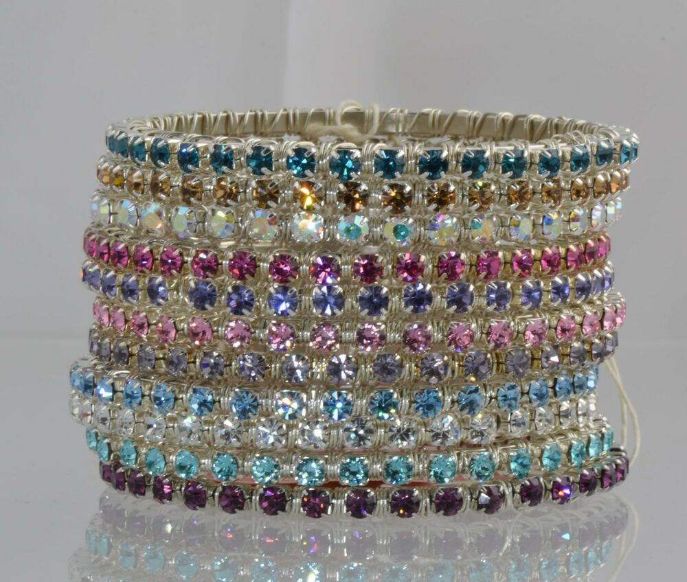 swarovski crystal elements bangle bracelet ebay. Black Bedroom Furniture Sets. Home Design Ideas
