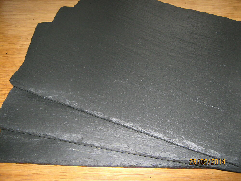 Handmade Welsh Natural Slate Placemats Amp Coasters Set Of 2
