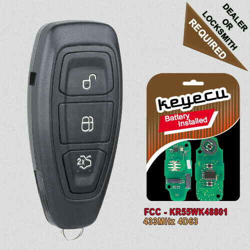 Smart Car Key Replacement >> OEM Intelligent Remote Key 434MHz ID83 for Ford Focus C ...