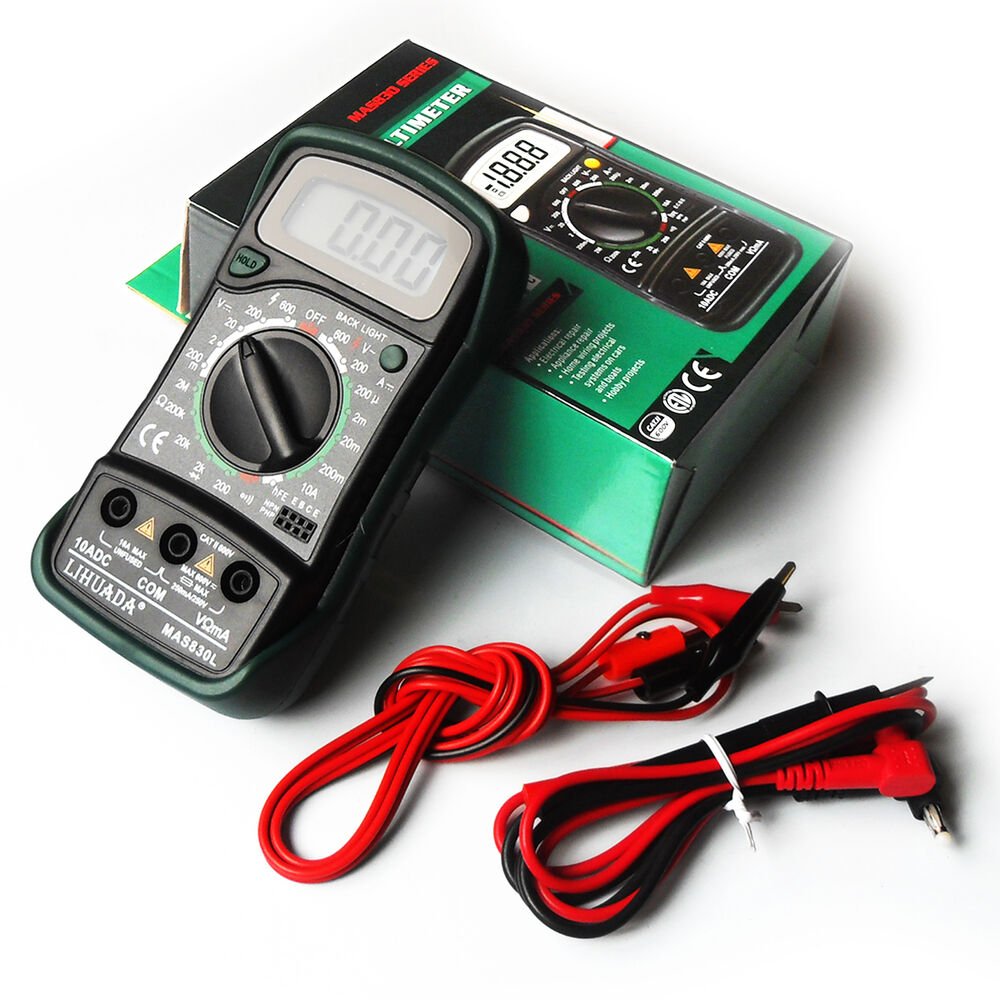 Digital Multimeter Leads : Quality digital multimeter ac dc voltmeter ohmmeter multi