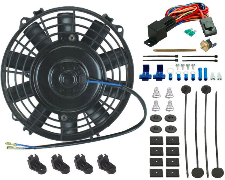"""7"""" INCH ELECTRIC COOLING FAN 12 VOLT PUSH-IN RADIATOR FIN"""