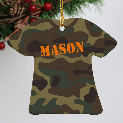 Personalized Army Camouflage T-Shirt Christmas Tree