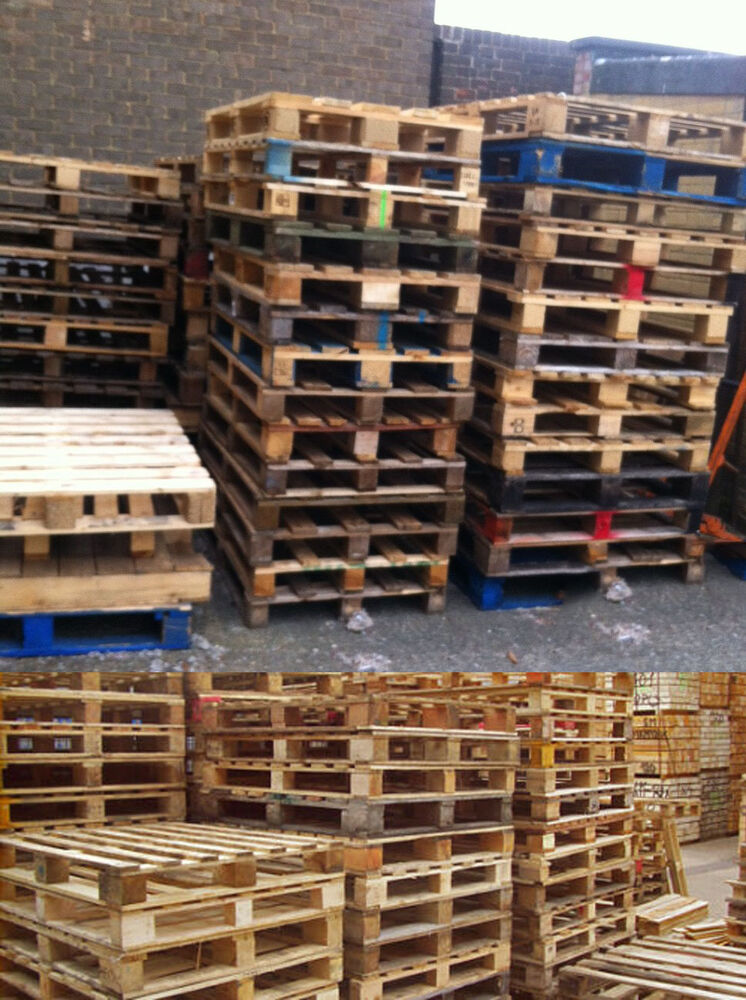 Wood pallet for shipment storage garden furniture decking for Uses for used pallets