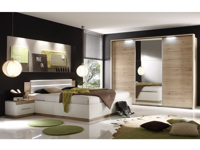 schlafzimmer dandy san remo wei komplett doppelbett kleiderschrank 109571 ebay. Black Bedroom Furniture Sets. Home Design Ideas