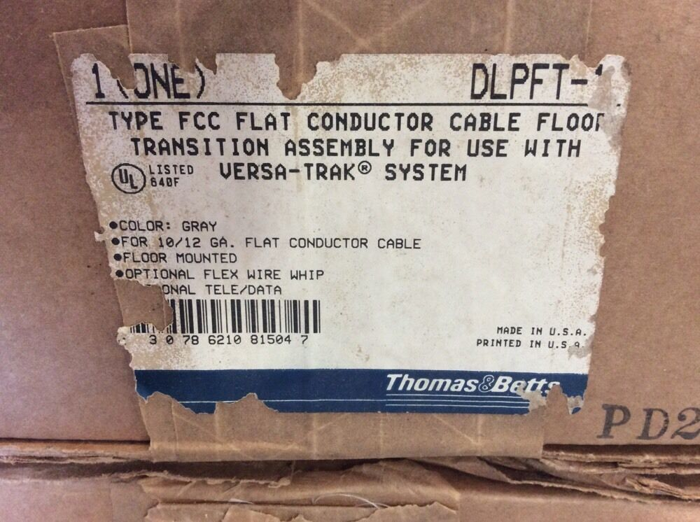 Type Fcc Flat Conductor Cable : Thomas betts flat conductor cable floor transition