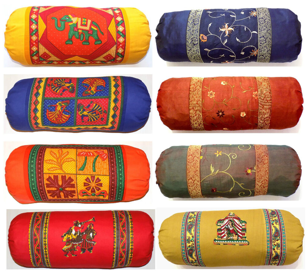 Large Bolster Round Cylinder Pillow Cushion Cover Case 9 5