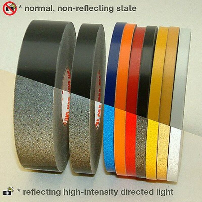 3m 580 Scotchlite Reflective Tape Stripe For Wheel Black
