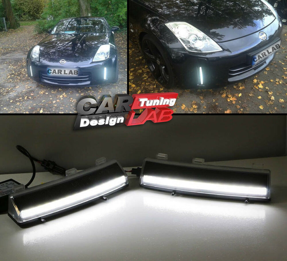 Yeats Led Daytime Running Lights Drl Led Front Bumper Fog: LED DRL Daytime Running Light Bumper Reflectors Fits 06-09