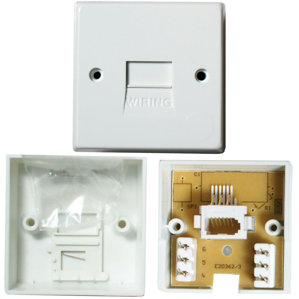 Bt pabx extension telephone wall socket idc terminal