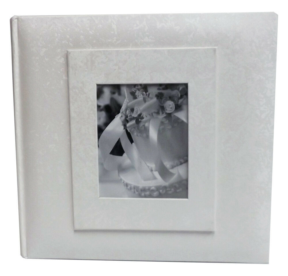 white wedding album 200 photo 4x6 size set of 2 albums ebay. Black Bedroom Furniture Sets. Home Design Ideas