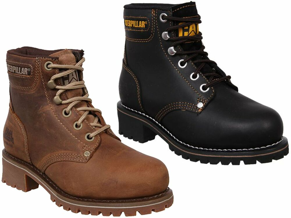 womens caterpillar cat logger leather steel toe cap safety