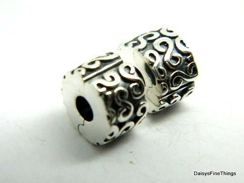 New  Authentic Pandora Charm Fancy S Clips 2 Each  790338