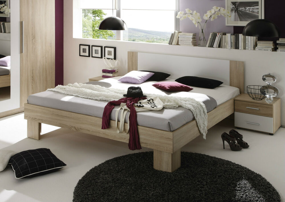 bettanlage martina bettgestell nachtkommoden bett. Black Bedroom Furniture Sets. Home Design Ideas