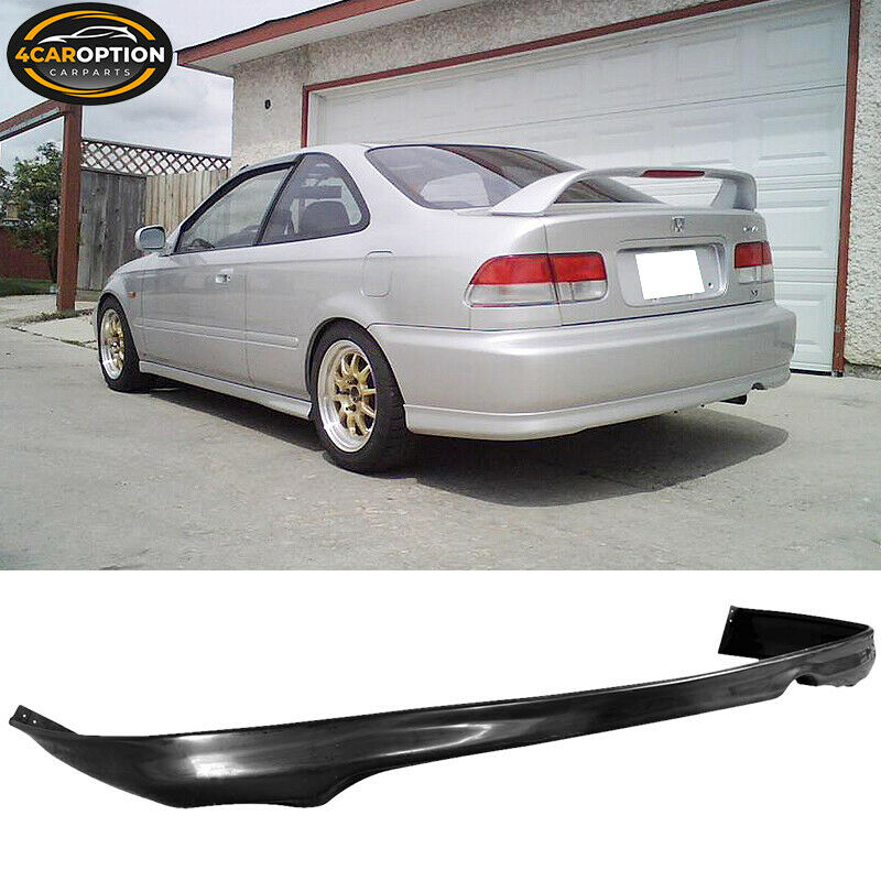 99 00 honda civic 1999 2000 2 4dr rear bumper lip spoiler. Black Bedroom Furniture Sets. Home Design Ideas