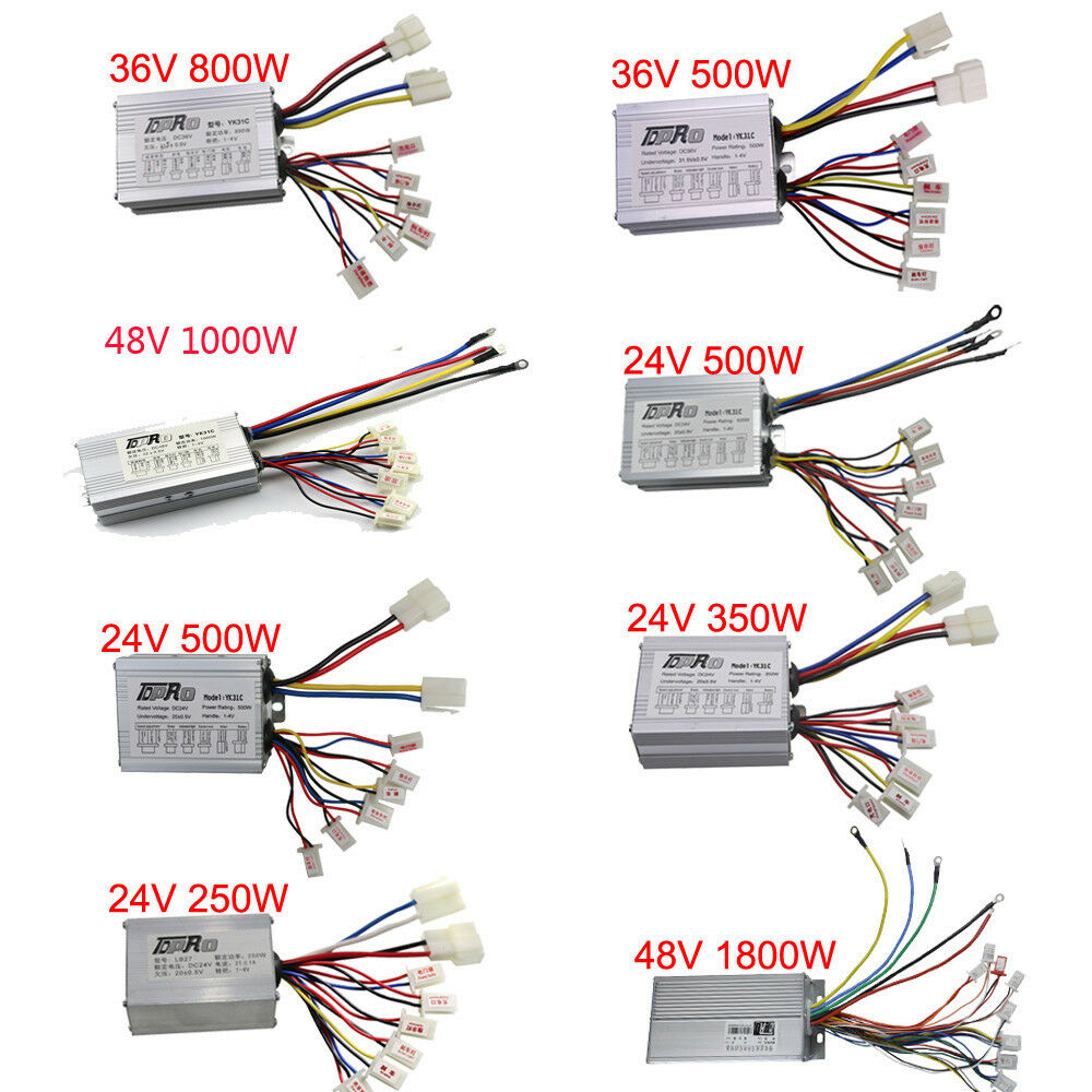 Brush dc speed controller for scooter mini bike electric for 36v dc motor controller