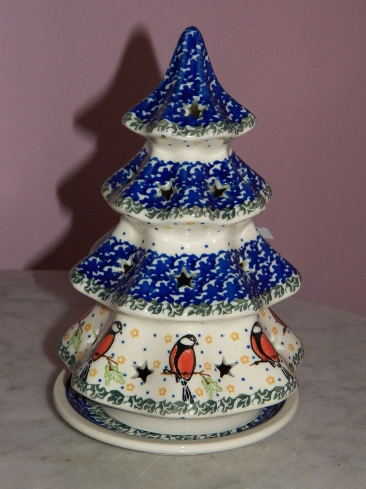 Christmas Pottery Barn Knock Offs And Others Too: Ceramica Artistica Polish Pottery Christmas Tree Tea Light