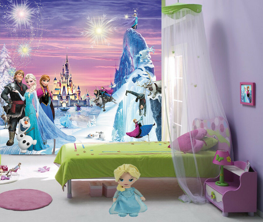 kinder fototapete eisk nigin 210x200 frozen anna elsa tapete poster wandbid bild ebay. Black Bedroom Furniture Sets. Home Design Ideas