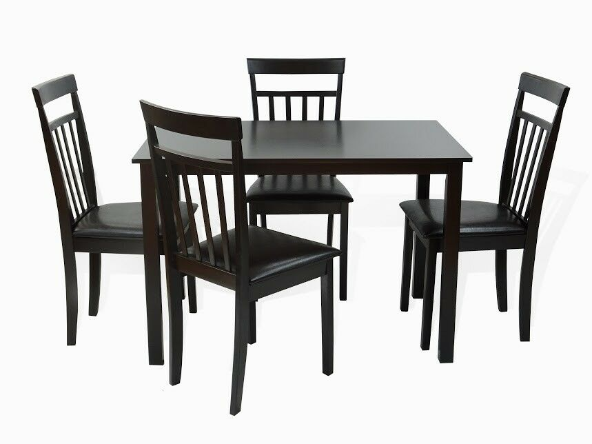 Dining kitchen 5 pc set rectangular table 4 warm chairs for Kitchen table with 4 chairs