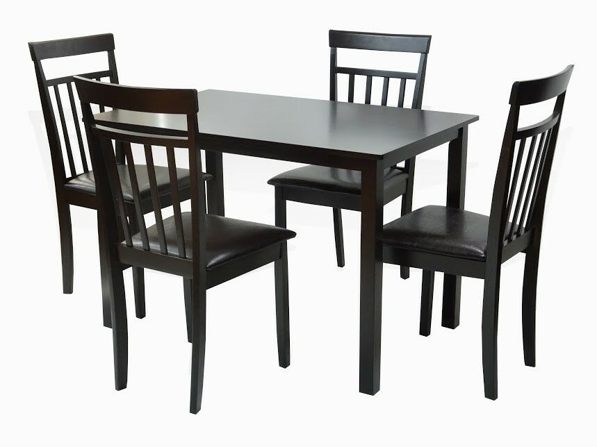 Dining kitchen 5 pc set rectangular table 4 warm chairs for Breakfast table and chairs