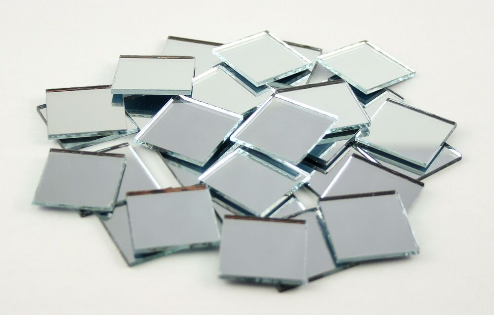 1 Inch Glass Craft Mini Square Mirrors 100 Pieces Mosaic