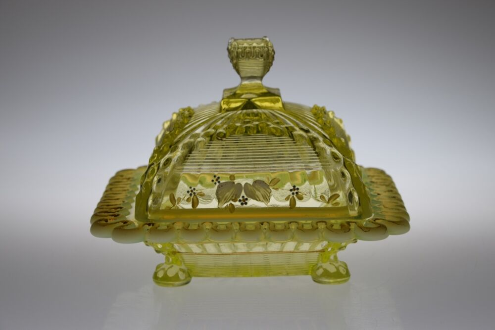 C 1897 alaska by northwood canary opal vaseline butter w for Advanced molding and decoration s a de c v