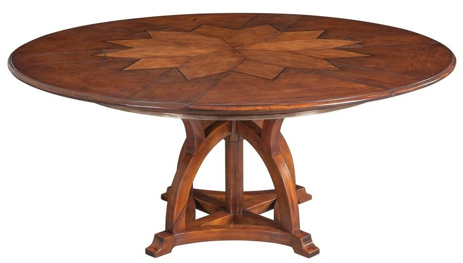 70 Round Fioretta Extendable Dining Table Solid Walnut White Oak Wood V