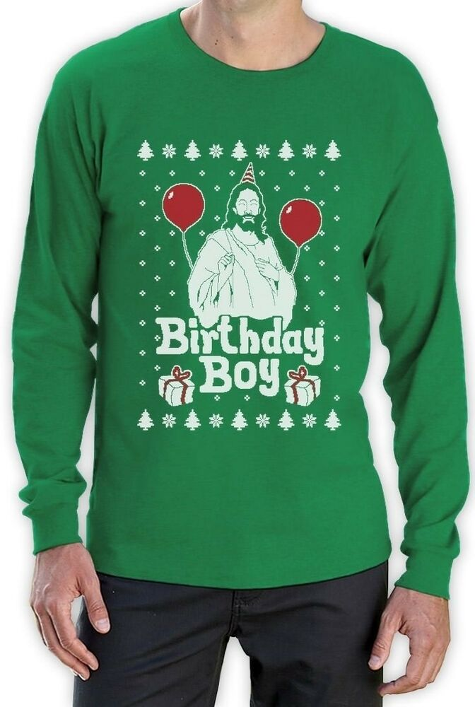ugly christmas sweater jesus birthday boy xmas holiday