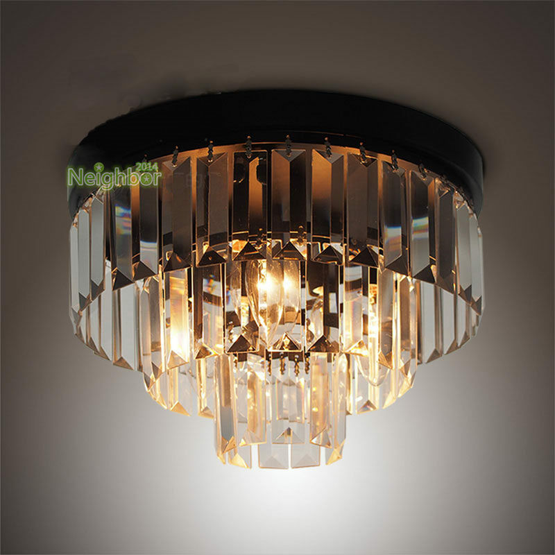 Modern led cake crystal ceiling lights chandelier bedroom lighting fixture ebay - Ceiling lights and chandeliers ...