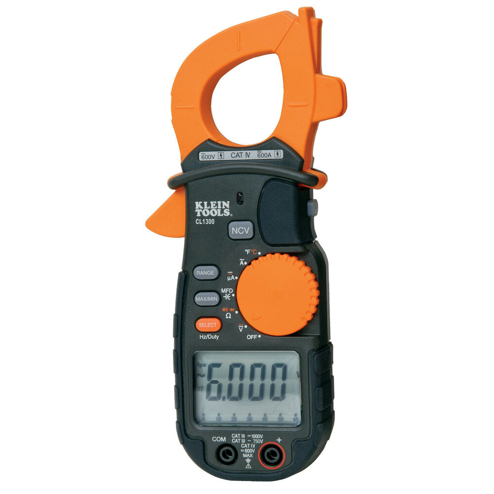 1ua Clamp Meter : Klein tools cl a ac clamp meter with temperature ebay