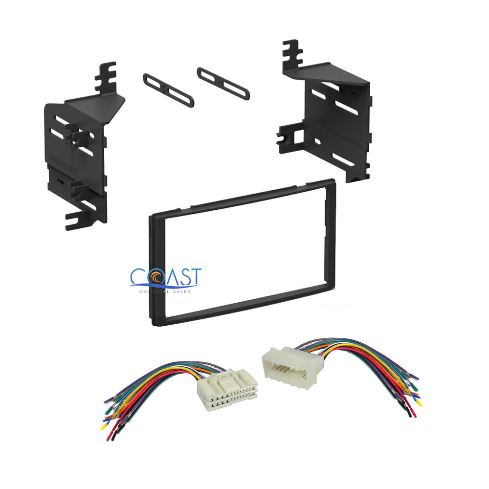 Single Double Din Car Stereo Dash Kit   Harness Combo For