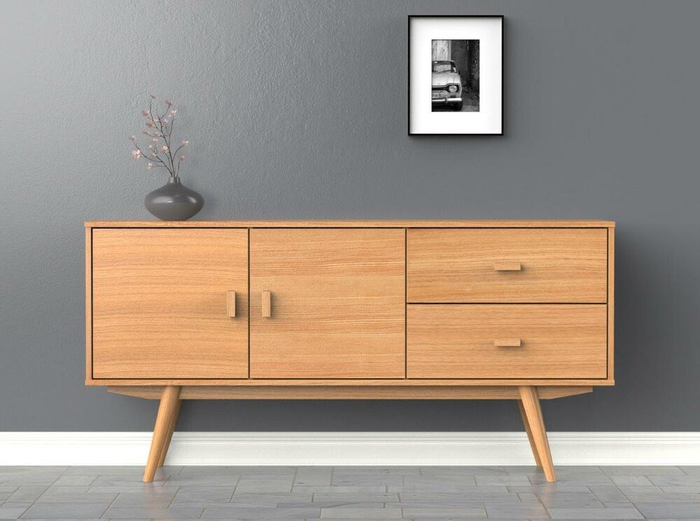 Scandinavian sideboard large buffet ash for Nordic furniture style
