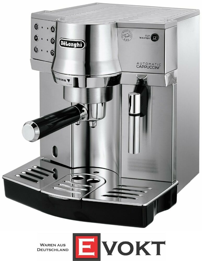 delonghi ec 860 m espresso coffee machine automatic cappuccino silver genuine 8004399325968 ebay. Black Bedroom Furniture Sets. Home Design Ideas