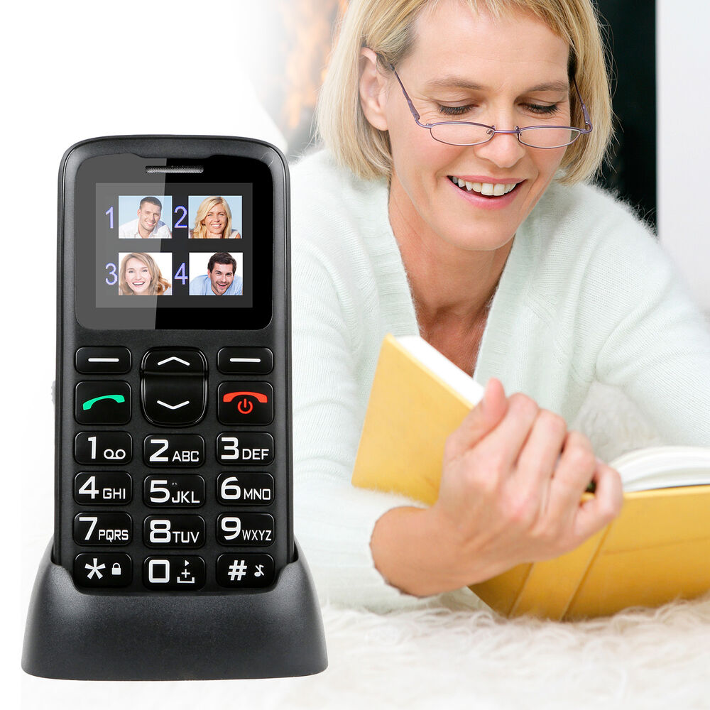 unlocked simple big button image gsm mobile cell phone for seniors elderly sos ebay. Black Bedroom Furniture Sets. Home Design Ideas