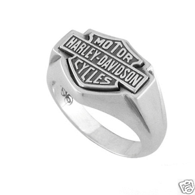 Harley davidson large flat bar shield logo ring 15 ebay for Harley davidson jewelry ebay