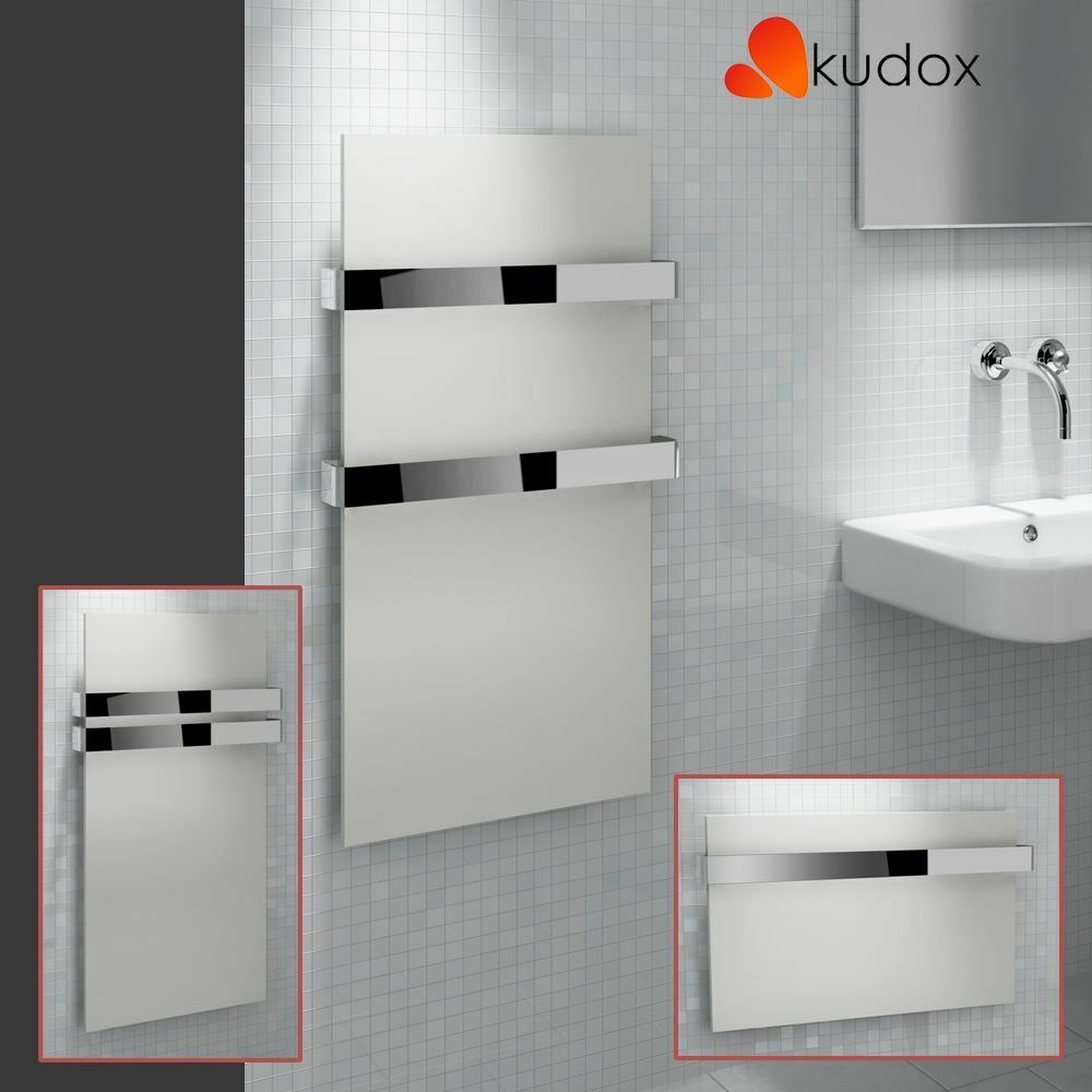 kudox ikon designer white heated towel rail radiator. Black Bedroom Furniture Sets. Home Design Ideas