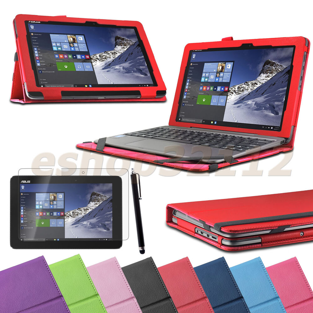 Book Cover Case : Folio stand cover case for asus transformer book t ha