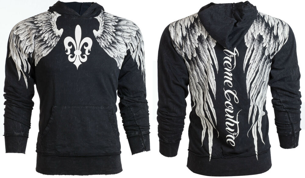 Xtreme couture affliction mens hoodie sweat shirt jacket for How to not sweat through shirts