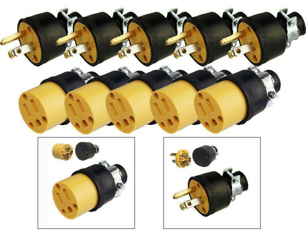 5pc male 5pc female extension cord replacement. Black Bedroom Furniture Sets. Home Design Ideas
