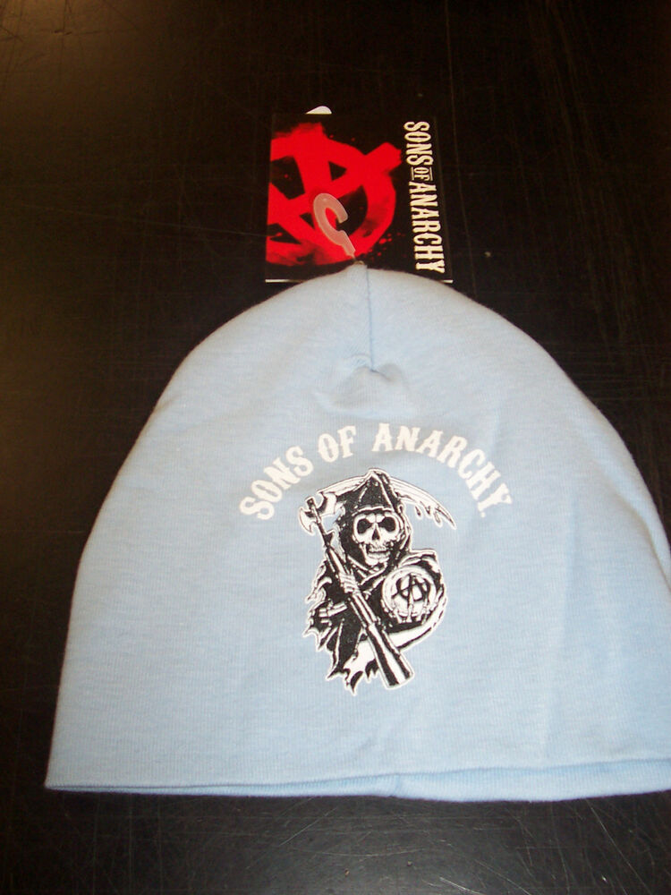 Sons Of Anarchy Arched Reaper Classic Logo Blue Baby