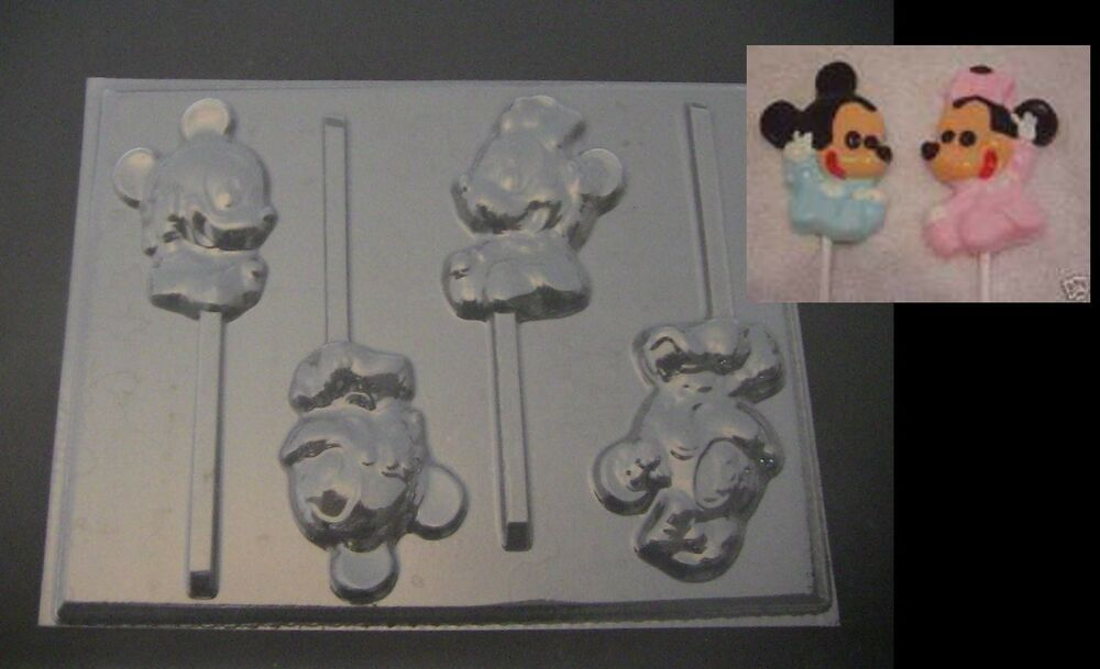 Baby Minnie Amp Mickey Mouse Lollipop Chocolate Soap Candy
